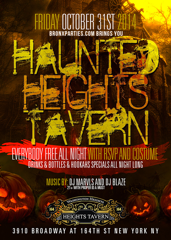 NY Halloween Party NYC at Heights Tavern NYC Washington Heights Uptown Halloween Night